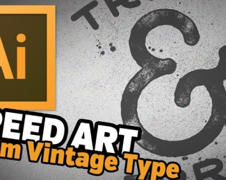Speed Art Custom Vintage Typography