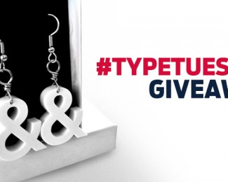Ampersand Earring Giveaway