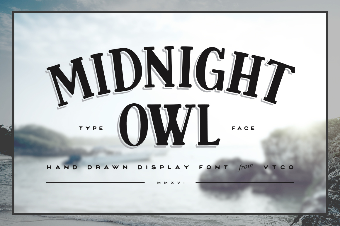Midnight Owl Display Font Preview 01 2016