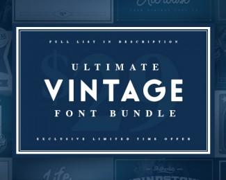 The ULTIMATE Vintage Font Bundle