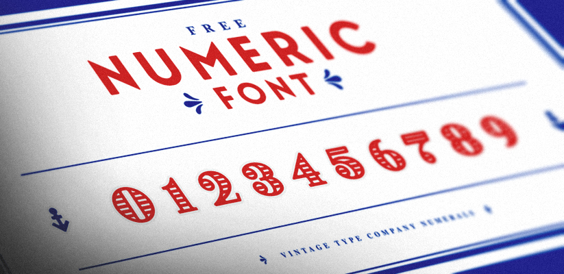 VTC Display Numerals Free Font 2016