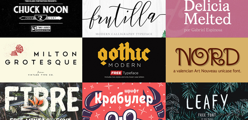 Top 45 Free Vintage Fonts for 2017