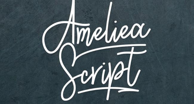 Ameliea Script Free Font 2017