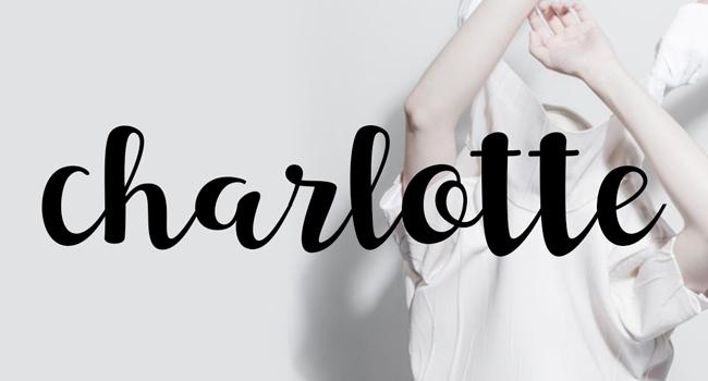 Charlotte Script Free Font October 2017