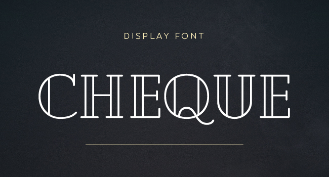 Cheque Free Vintage Display Font October 2017