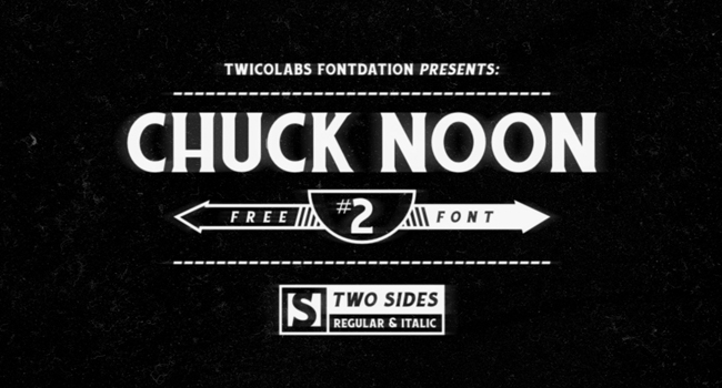 Chuck Noon Free Font 2017