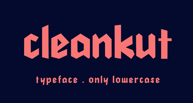 Cleankut Free Display Font October 2017