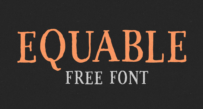 Equable Free Font October 2017