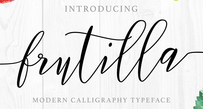 Frutilla Free Hand Brush Script Font October 2017