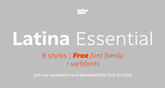 Latina Essential Free Sans Font Family October 2017