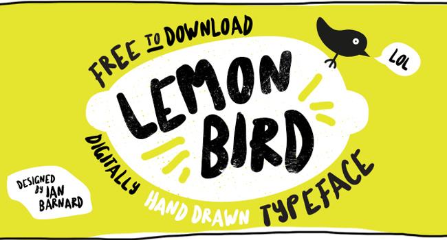 Lemon Bird Free Brush Font October 2017