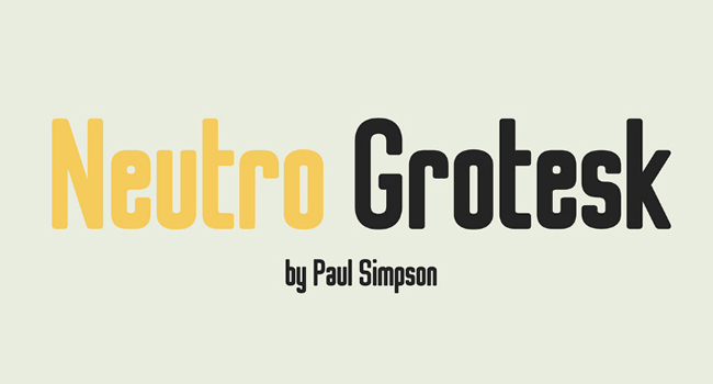 Neutro Grotesk Free Sans Font October 2017