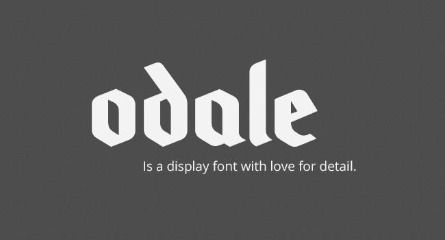 Odale Free Blackletter Font October 2017